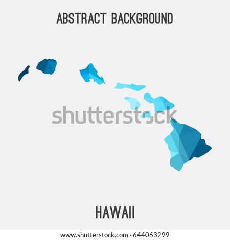 hawaii map in geometric