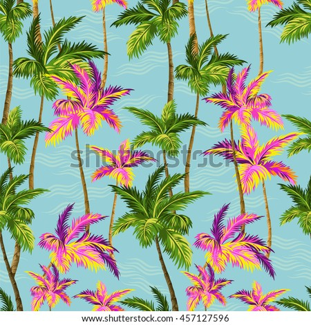 hawaii shirt palm trees pattern