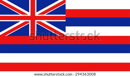 Hawaii state national flag. Vector EPS8