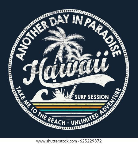 hawaii vector illustration for