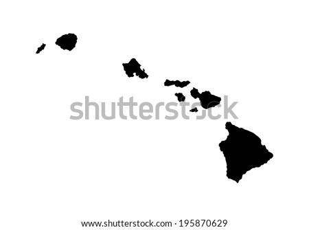 hawaii vector map high detailed