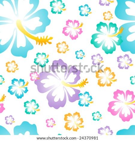 stock vector : Hawaiian Flower Background