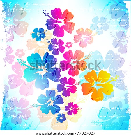 Hawaiian Flower Background