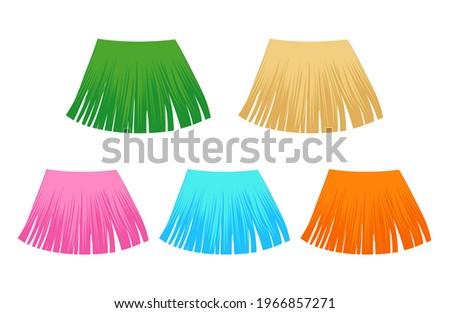 hawaiian grass skirt, dancing hula costume
