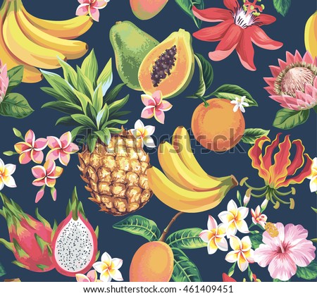 hawaiian seamless pattern with