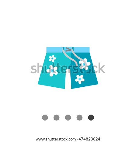 hawaiian shorts vector icon