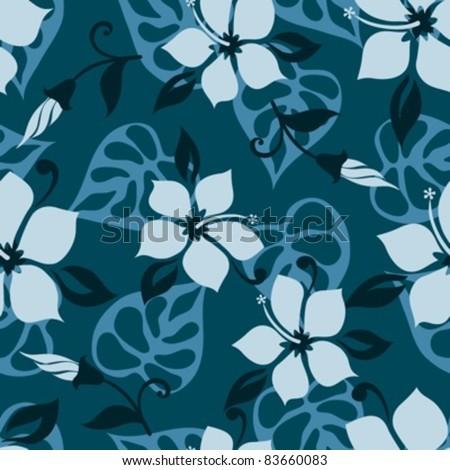 Hawaiian style seamless pattern