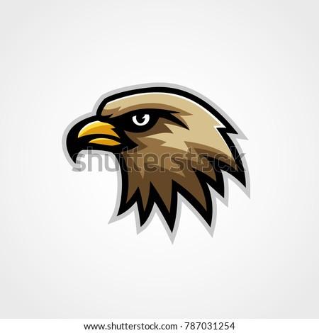 Shutterstock Hawk mascot logo vector eagle isolated