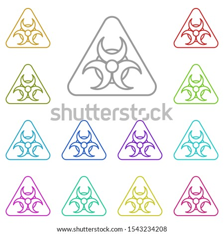 Hazard, biological multi color icon. Simple thin line, outline vector of biology icons for ui and ux, website or mobile application