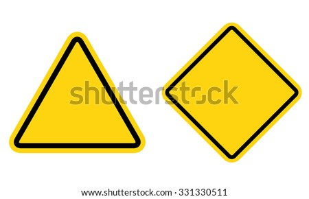 hazard blank sign set  warning