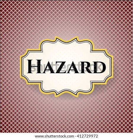 Hazard card with nice design