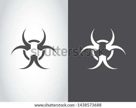 Hazard Danger Biology Danger Icon Symbol Black White