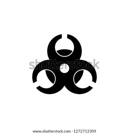 hazard icon dangerous symbol - biohazard symbol symbol - danger sign. Vector icon
