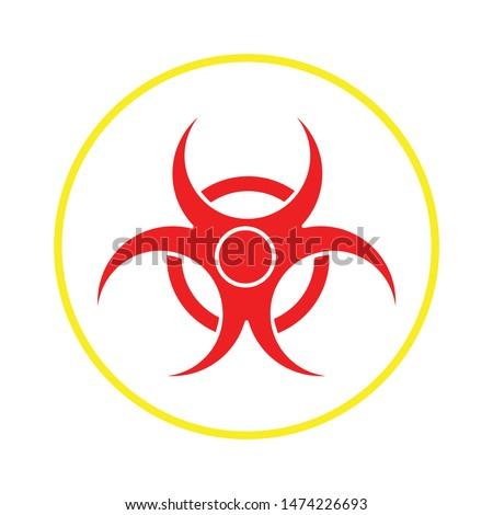 hazard icon. flat illustration of hazard vector icon. hazard sign symbol