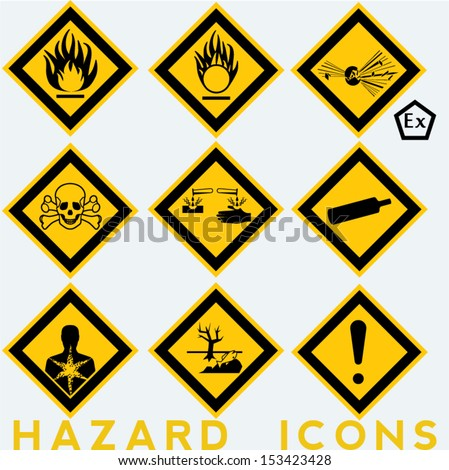 hazard icons  9   1 package