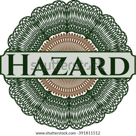 Hazard rosette or money style emblem