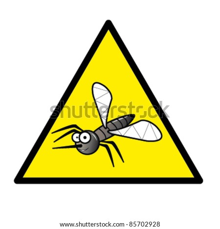 Hazard sign with a mosquito in it