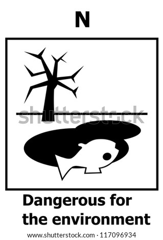 Hazard symbol - Dangerous for the environment
