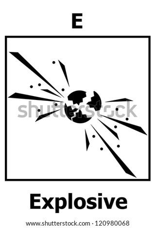 Hazard symbol explosiveExplosive Symbol Vector