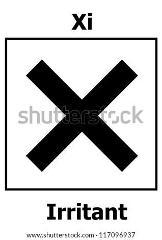 Hazard symbol - Irritant