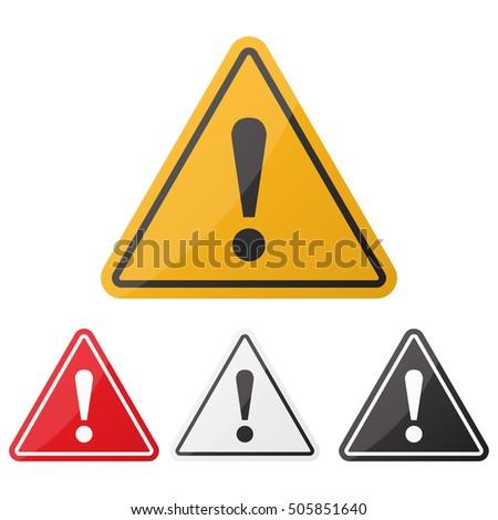 hazard warning attention sign...