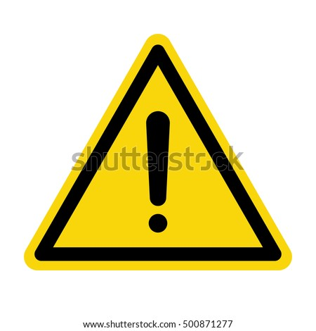 Hazard warning attention sign, Vector illustration
