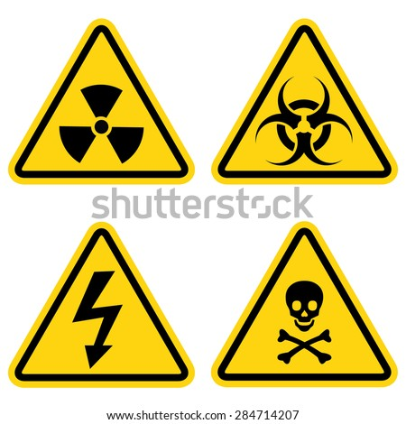 hazard warning icon set