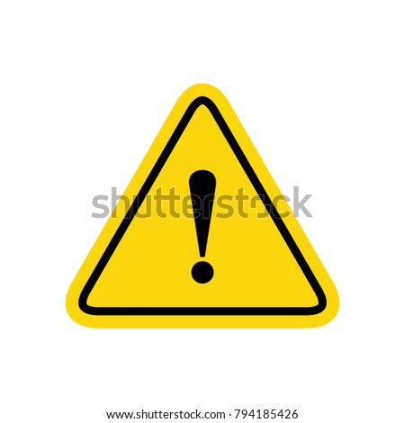 hazard warning sign with...