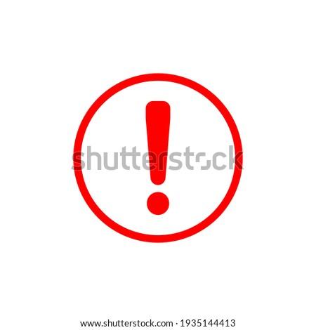 Hazard warning symbol vector icon flat sign symbol with exclamation mark isolated on white background. Hazard warning attention sign with exclamation mark symbol.