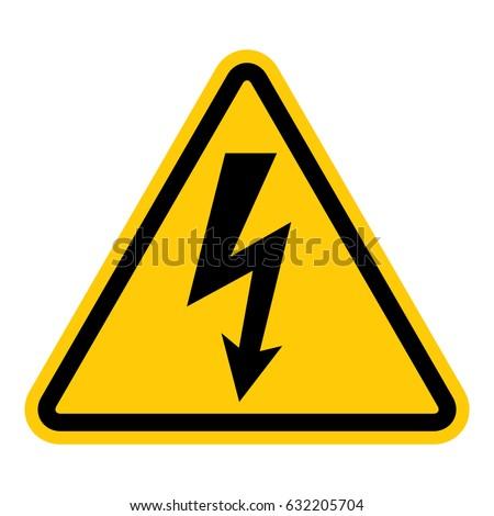 hazardous voltage pictogram