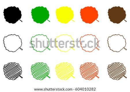 hazel leaf   color set  hazel