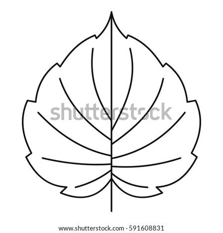 hazel leaf icon outline