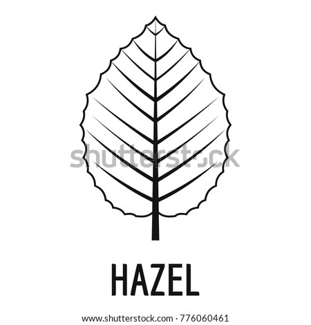 hazel leaf icon simple