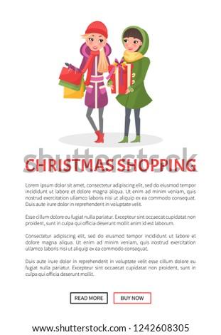 hchristmas shopping poster