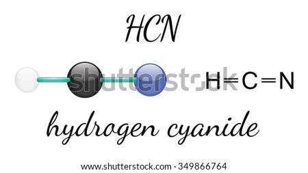 hcn hydrogen cyanide 3d