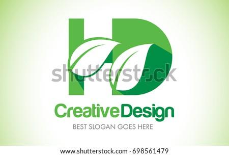 hd green leaf letter design