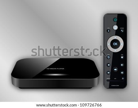 HD Media Player, Vector illustration