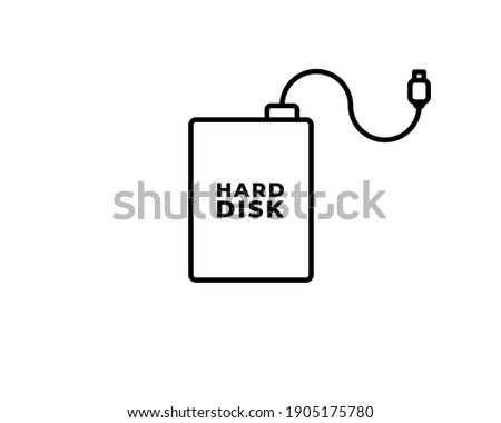 hdd icon simple flat logo of