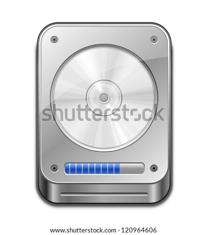 HDD Icon. Vector illustration of Hard Disk Drive