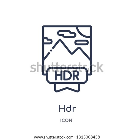 hdr icon from shapes outline