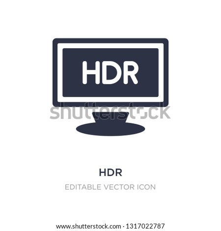 hdr icon on white background