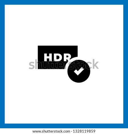 hdr icon vector hdr vector