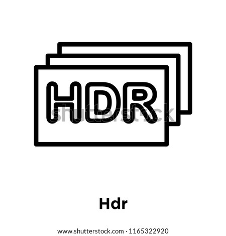 hdr icon vector isolated on