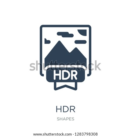 hdr icon vector on white