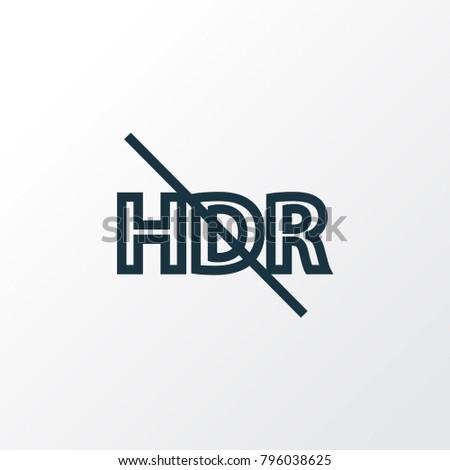 hdr off icon line symbol