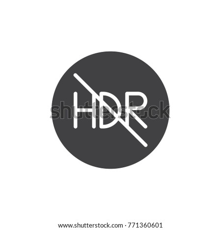 hdr off mode icon vector