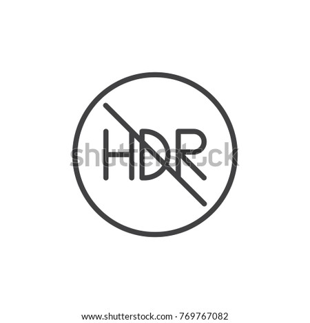 hdr off mode line icon  outline