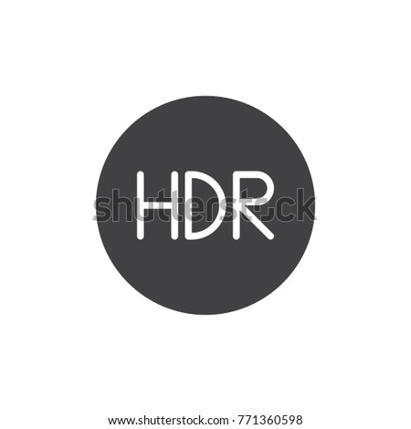 hdr on mode icon vector  filled