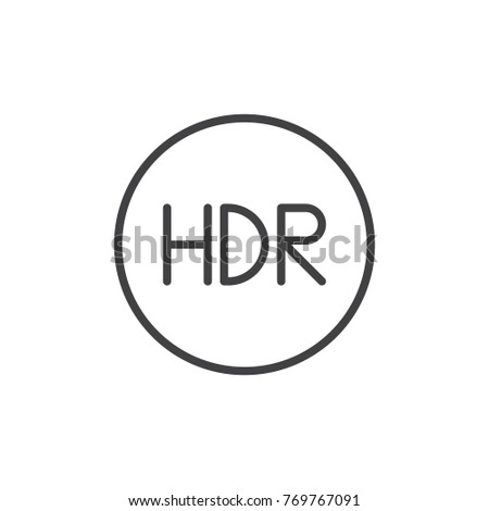 hdr on mode line icon  outline