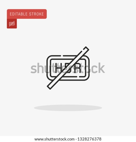 hdr simple vector icon